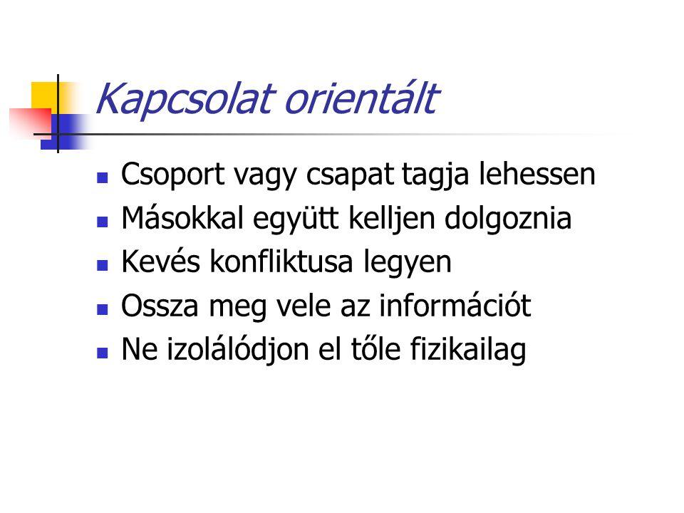 Kapcsolat orientált Csoport vagy csapat tagja lehessen