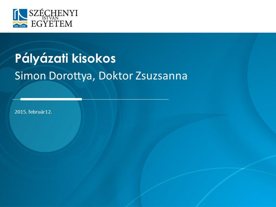 Simon Dorottya, Doktor Zsuzsanna