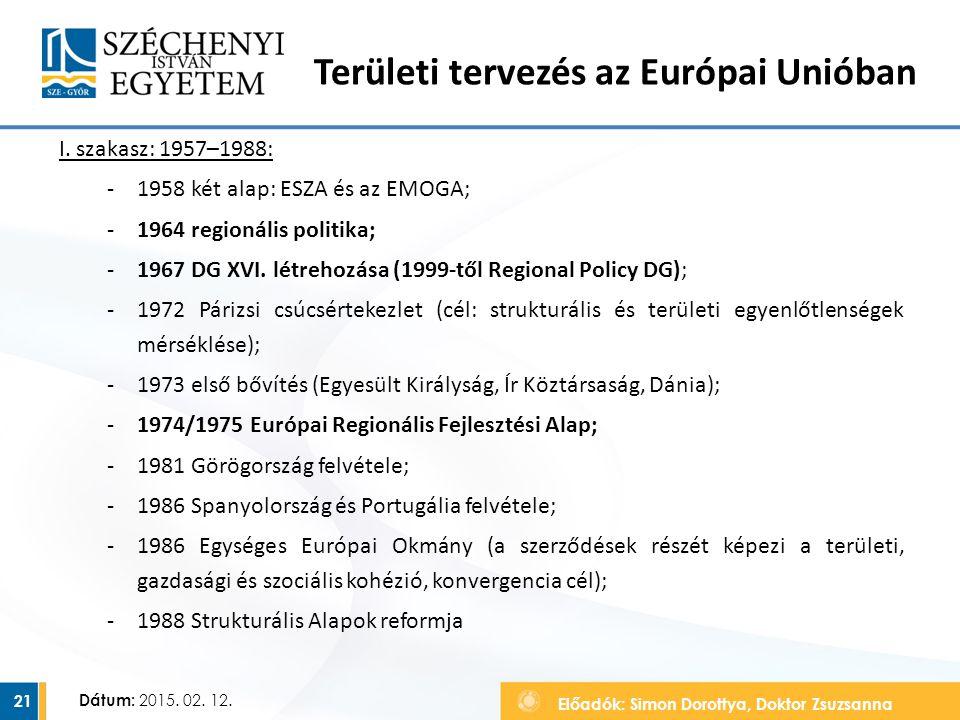 Területi tervezés az Európai Unióban