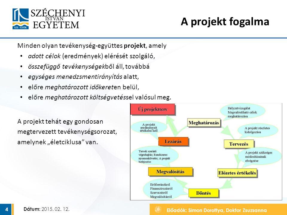 A projekt fogalma Minden olyan tevékenység-együttes projekt, amely