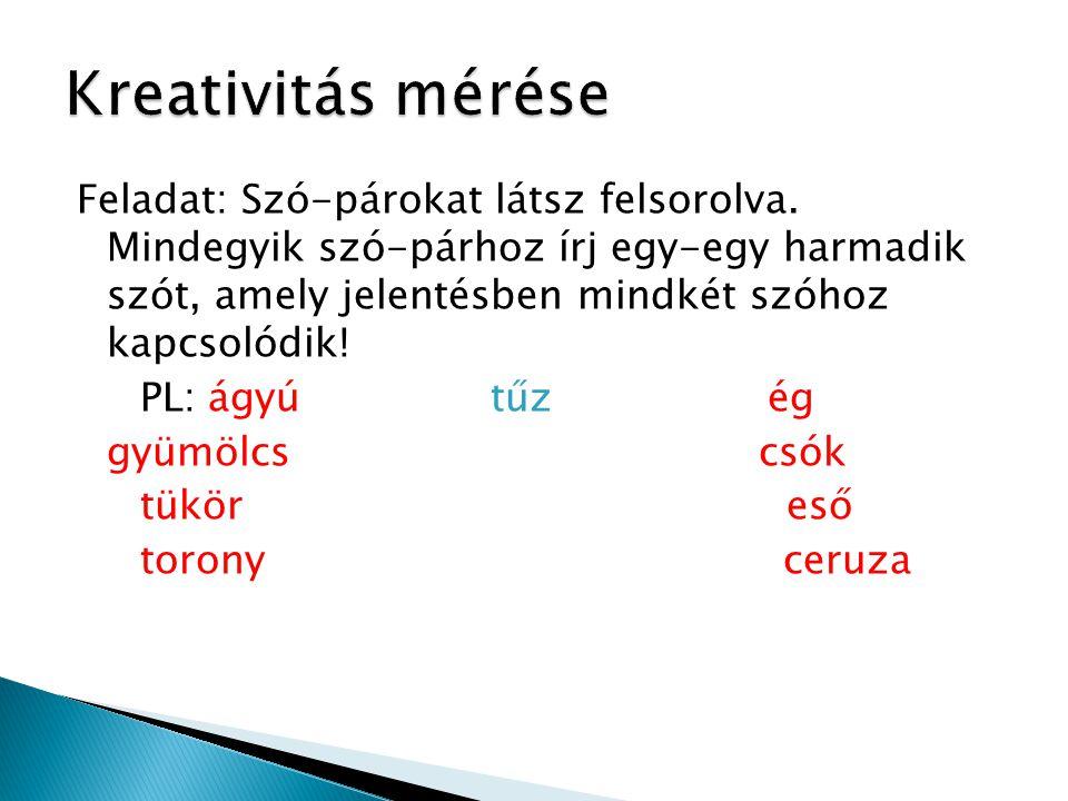 Kreativitás mérése