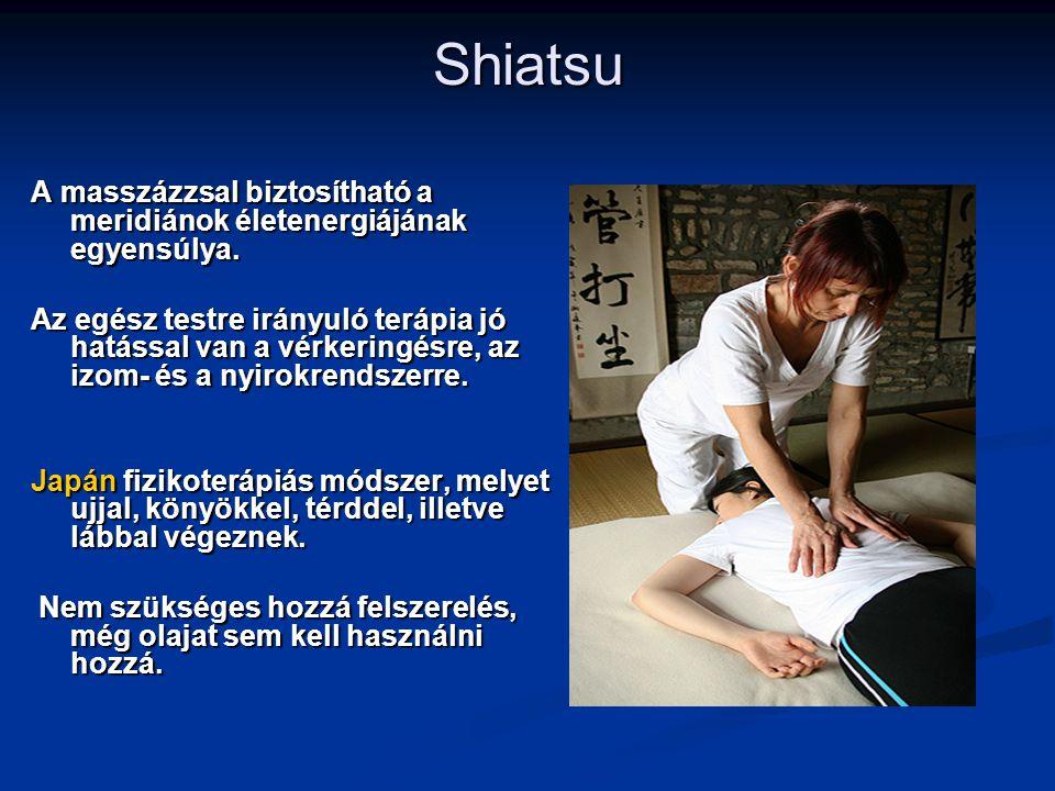 Shiatsu A masszázzsal biztosítható a meridiánok életenergiájának egyensúlya.