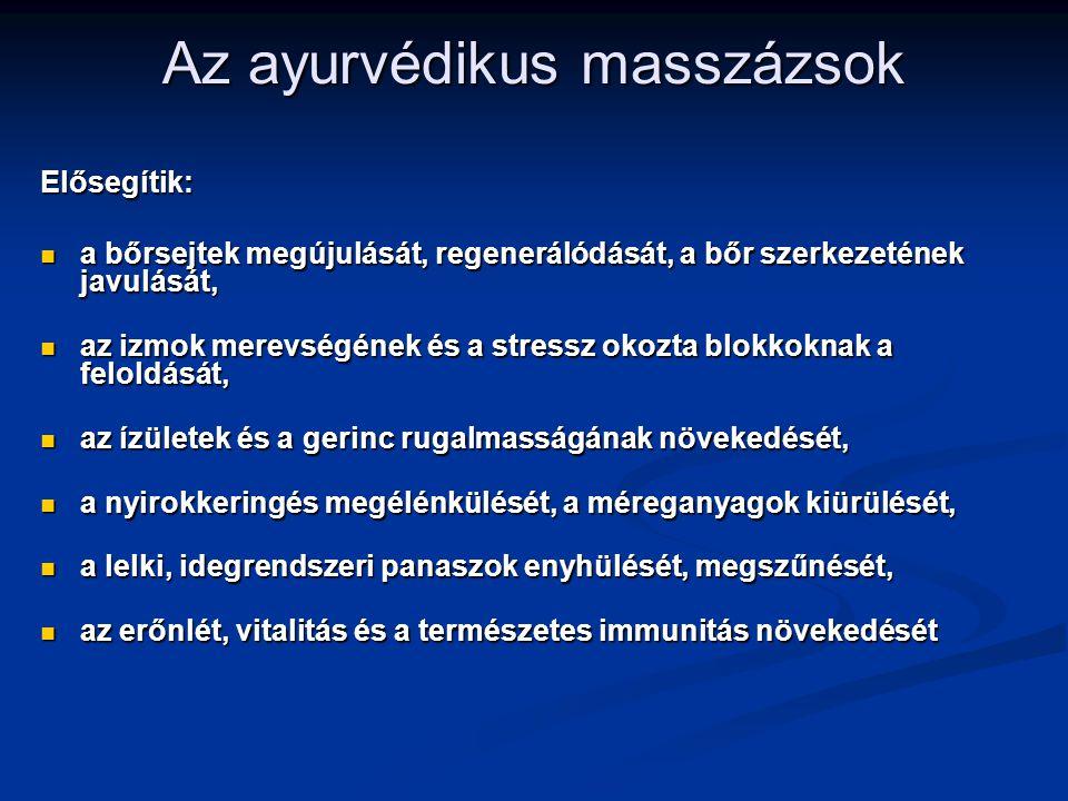 Az ayurvédikus masszázsok