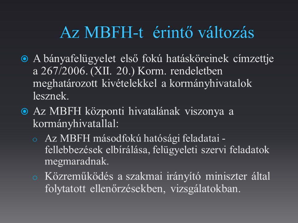 Az MBFH-t érintő változás