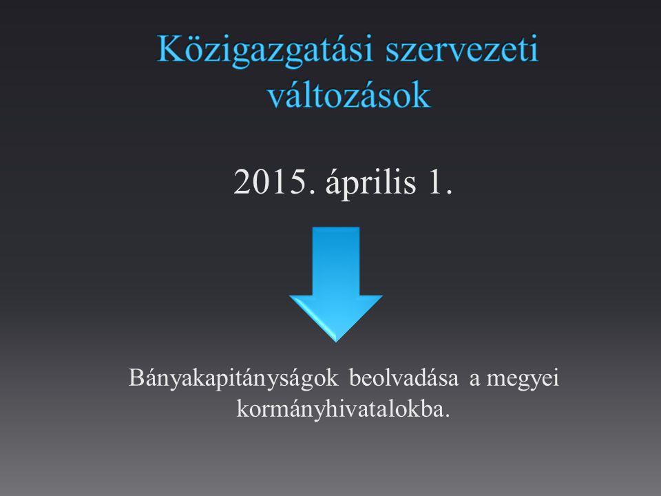 Közigazgatási szervezeti változások