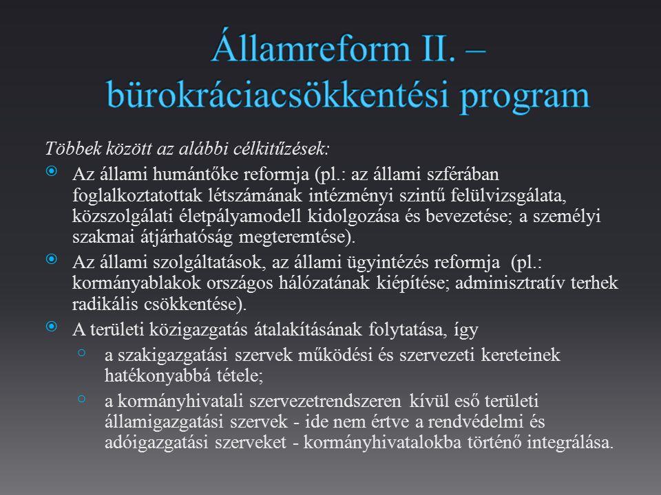 Államreform II. – bürokráciacsökkentési program
