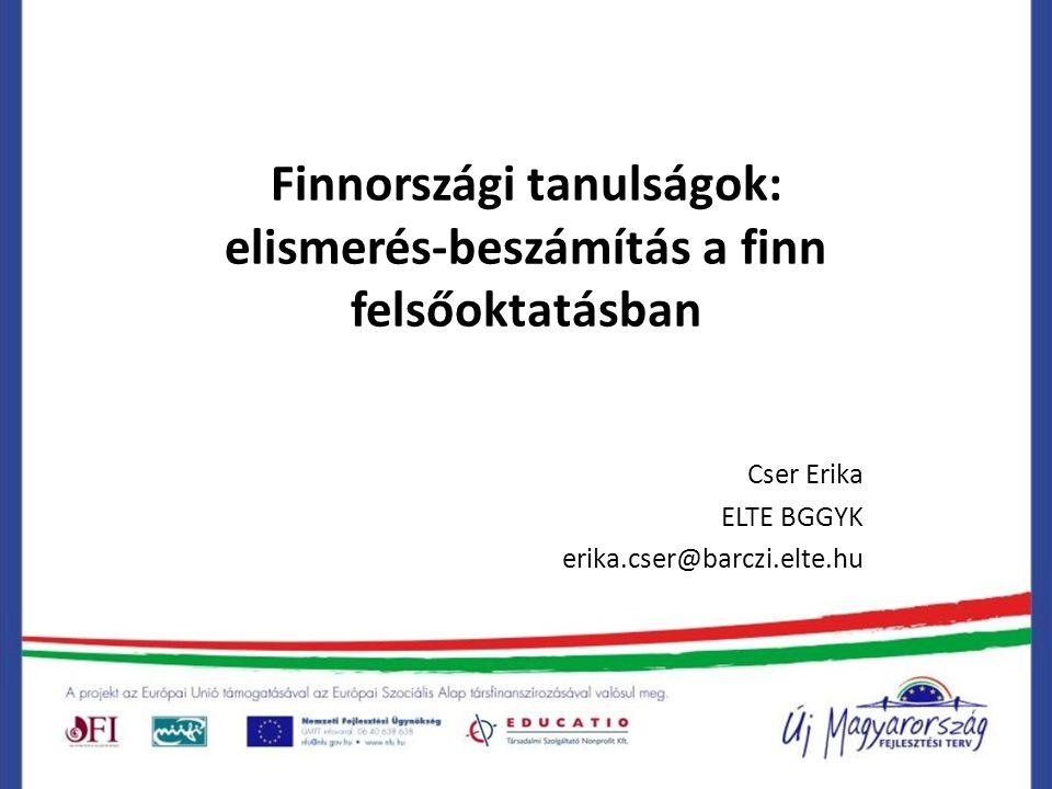 Finnországi tanulságok: elismerés-beszámítás a finn felsőoktatásban