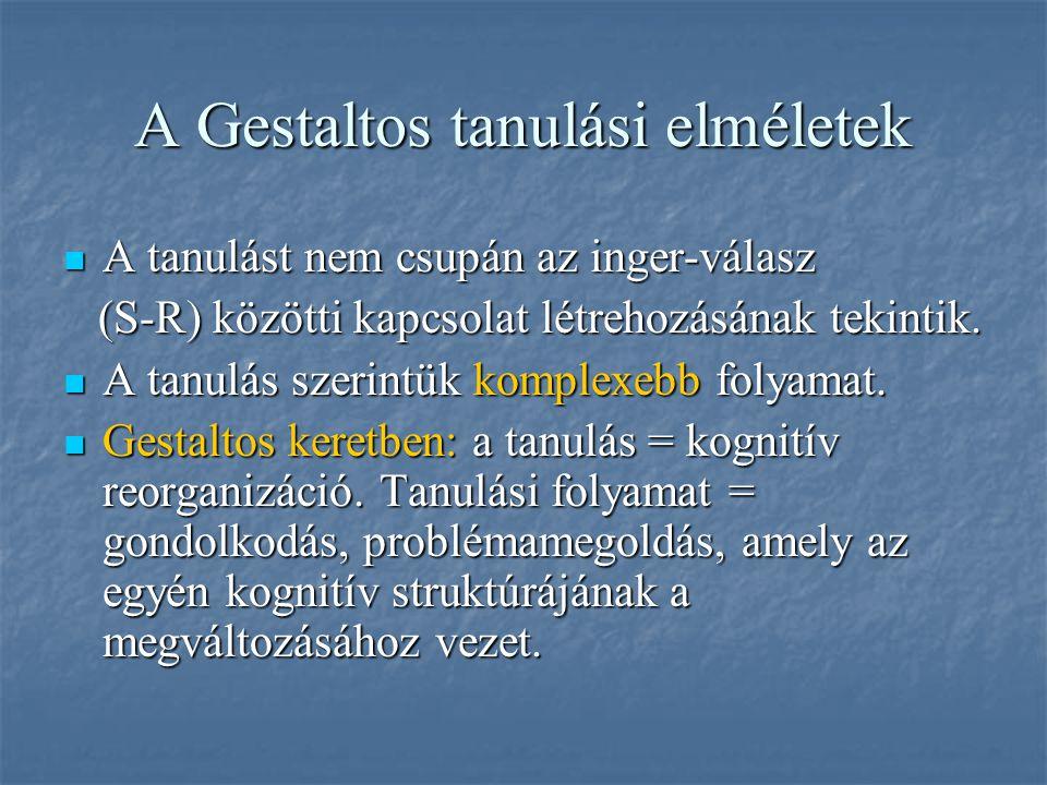 A Gestaltos tanulási elméletek