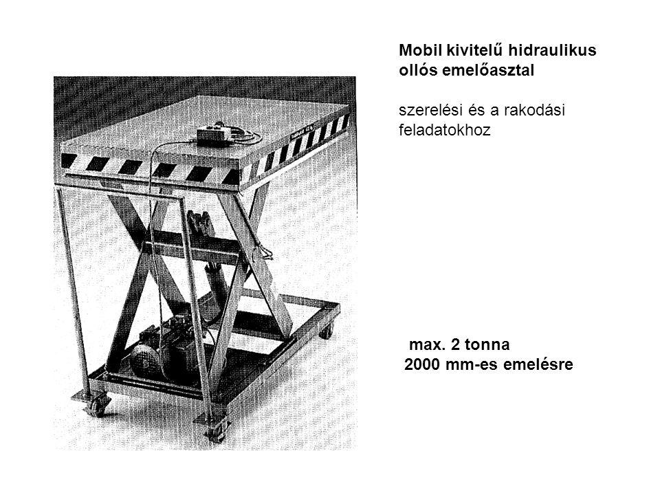 Mobil kivitelű hidraulikus ollós emelőasztal