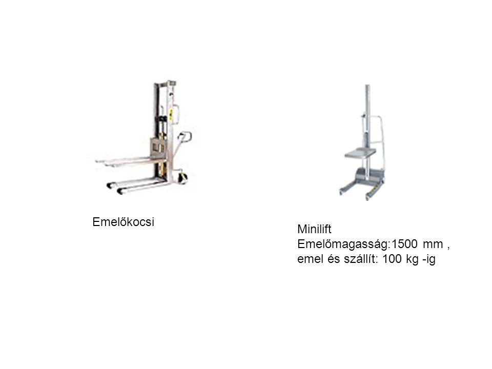 Emelőmagasság:1500 mm , emel és szállít: 100 kg -ig Emelőkocsi