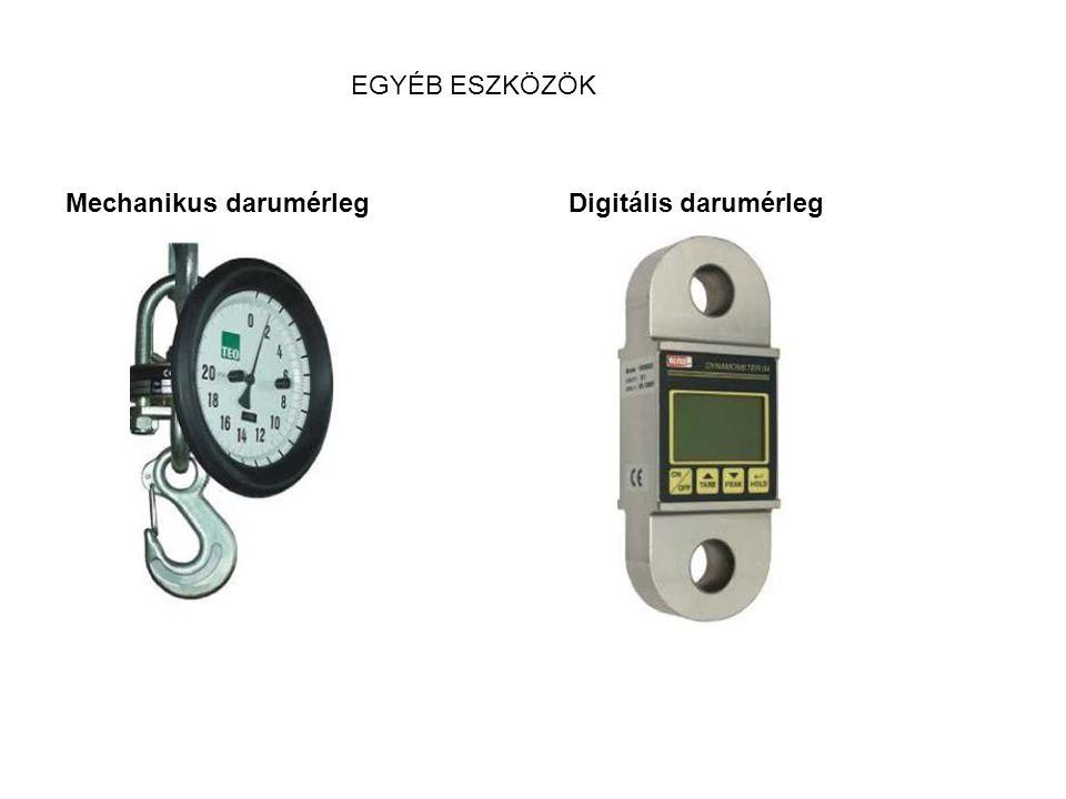 Mechanikus darumérleg Digitális darumérleg