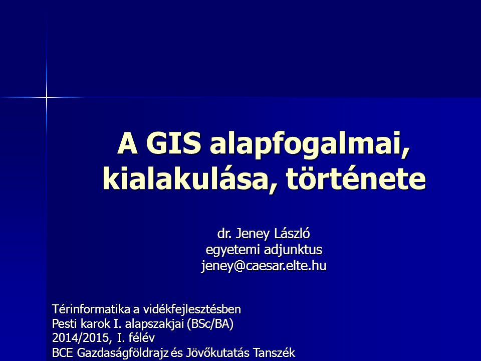 A GIS alapfogalmai, kialakulása, története