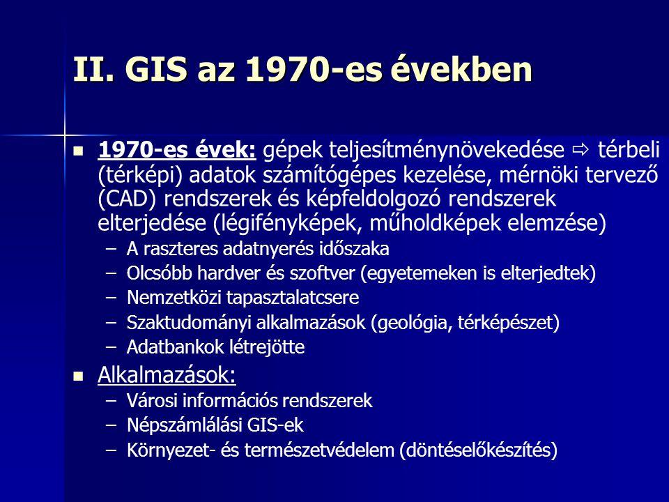II. GIS az 1970-es években