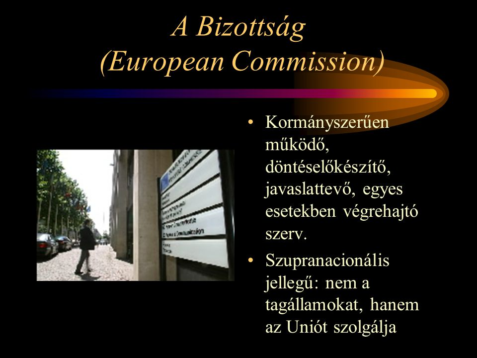 A Bizottság (European Commission)