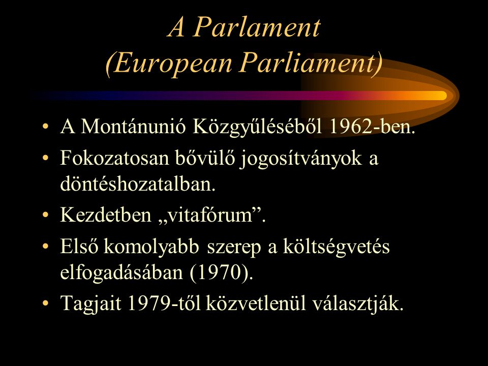 A Parlament (European Parliament)
