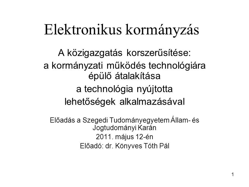 Elektronikus kormányzás