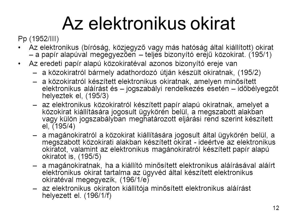 Az elektronikus okirat