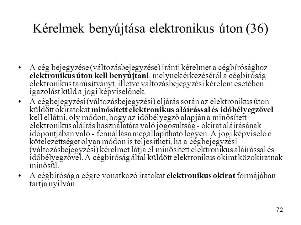 Kérelmek benyújtása elektronikus úton (36)