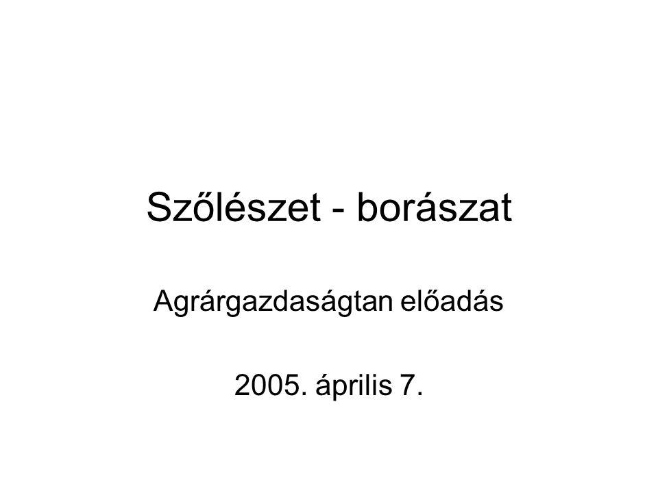 Agrárgazdaságtan előadás 2005. április 7.