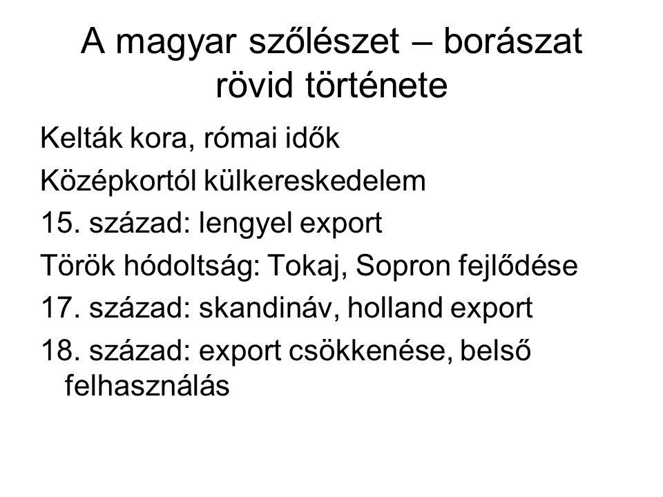 A magyar szőlészet – borászat rövid története