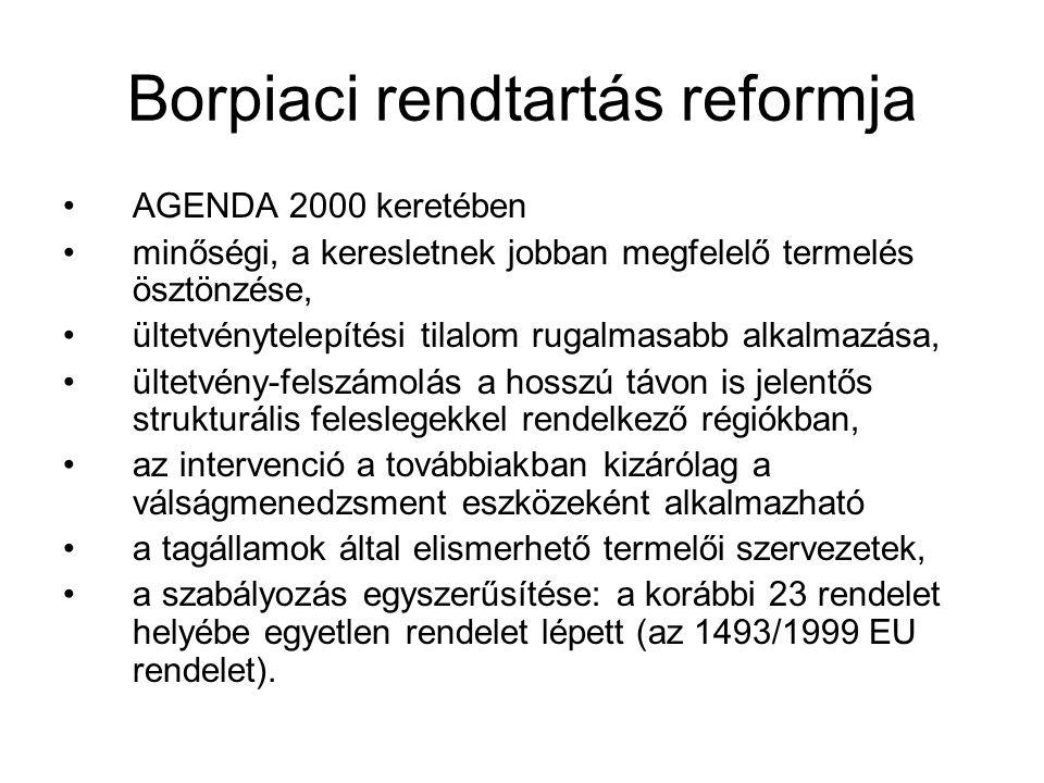 Borpiaci rendtartás reformja