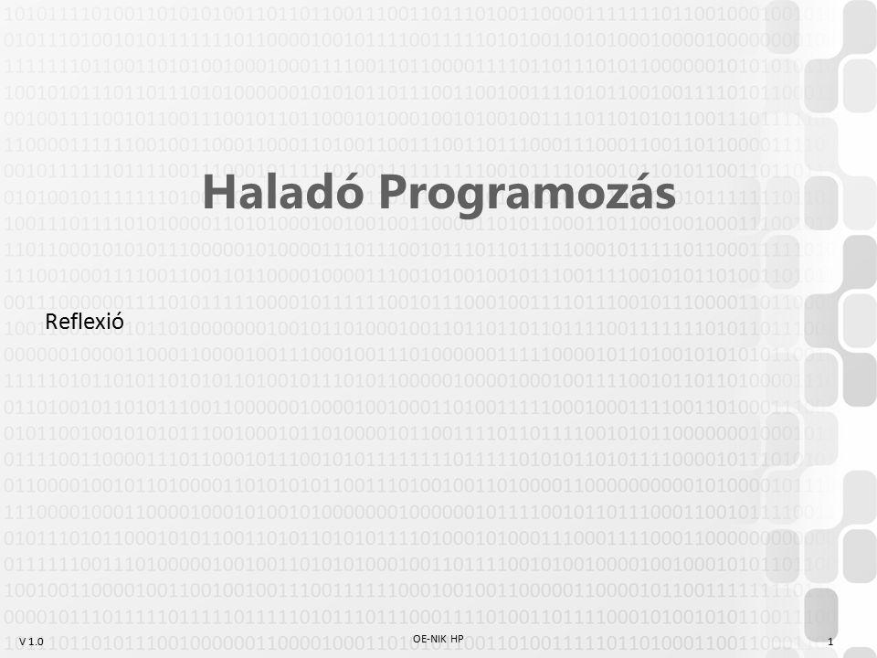 Haladó Programozás Reflexió OE-NIK HP