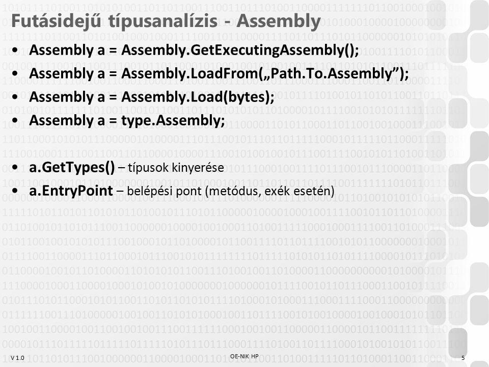 Futásidejű típusanalízis - Assembly