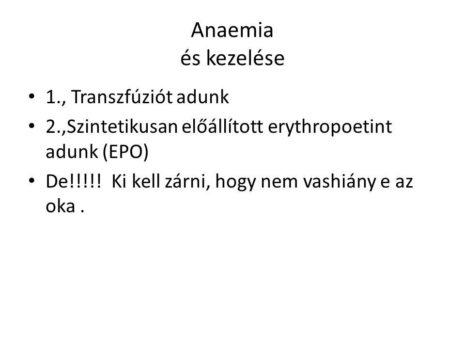 Anaemia és kezelése 1., Transzfúziót adunk