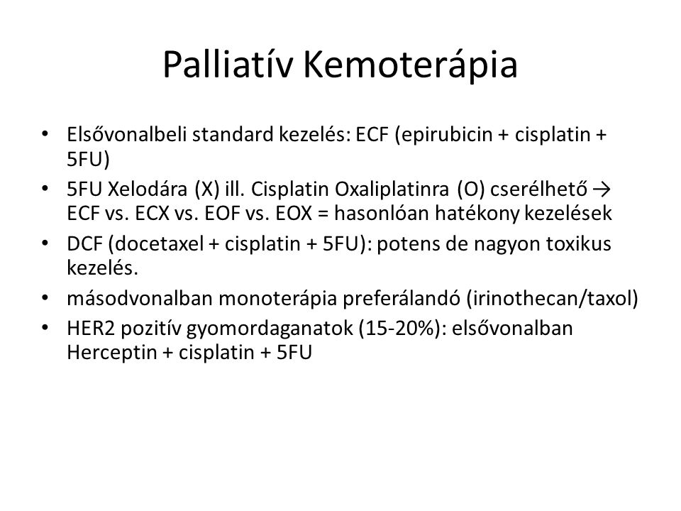 Palliatív Kemoterápia