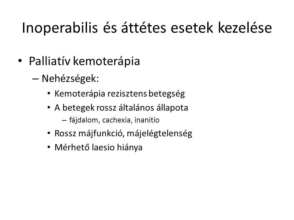 Inoperabilis és áttétes esetek kezelése