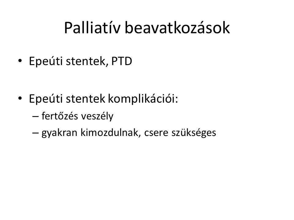 Palliatív beavatkozások