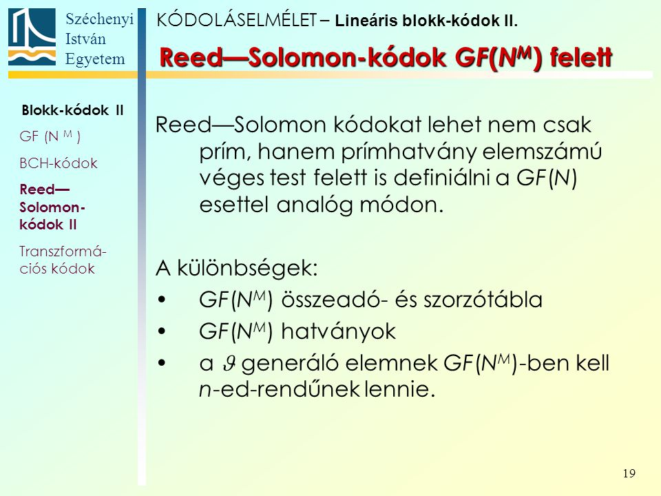 Reed—Solomon-kódok GF(NM) felett