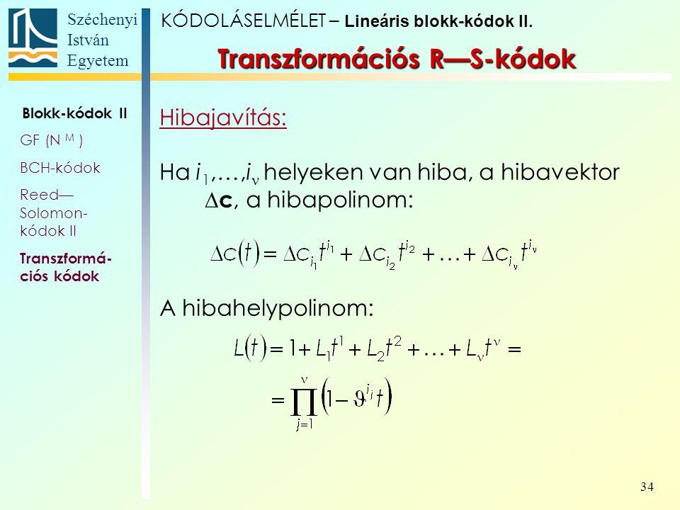 Transzformációs R—S-kódok