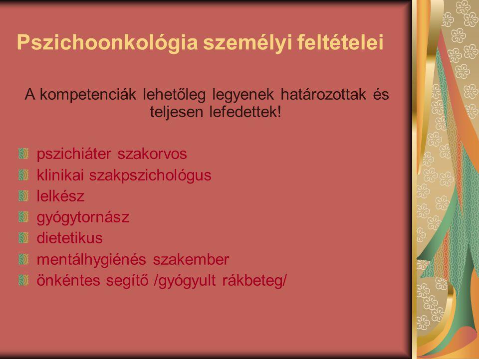 Pszichoonkológia személyi feltételei
