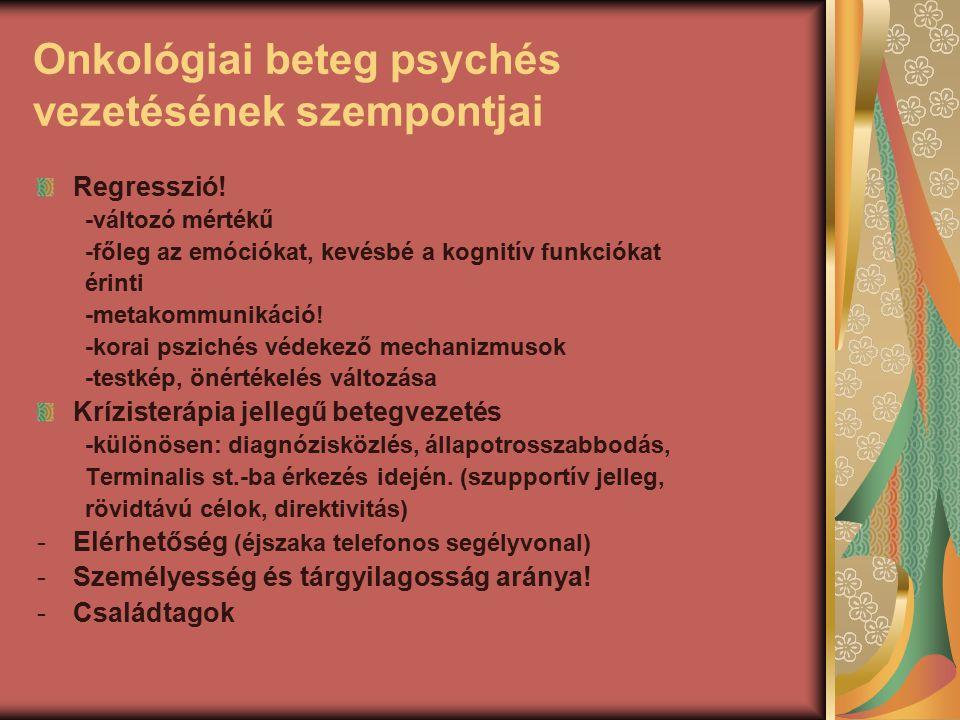 Onkológiai beteg psychés vezetésének szempontjai