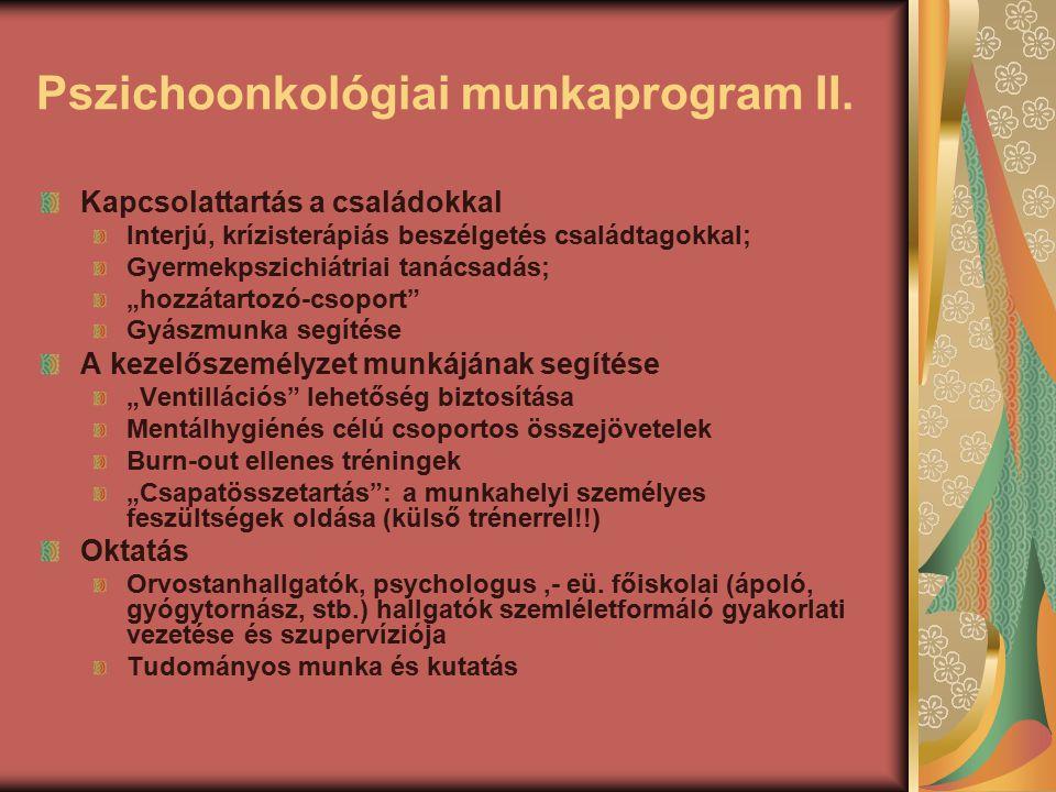 Pszichoonkológiai munkaprogram II.