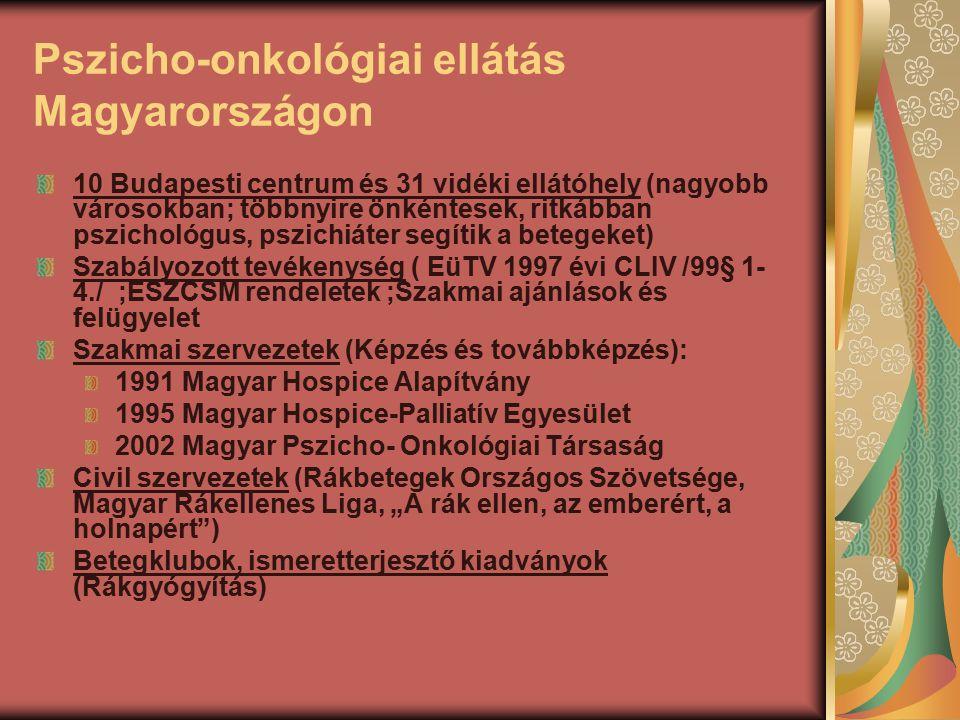 Pszicho-onkológiai ellátás Magyarországon
