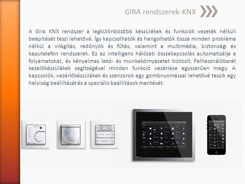 GIRA rendszerek-KNX