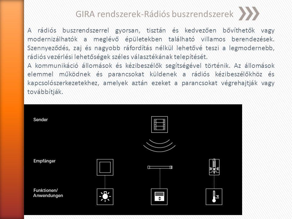 GIRA rendszerek-Rádiós buszrendszerek