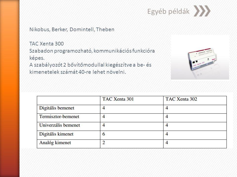 Egyéb példák Nikobus, Berker, Domintell, Theben TAC Xenta 300