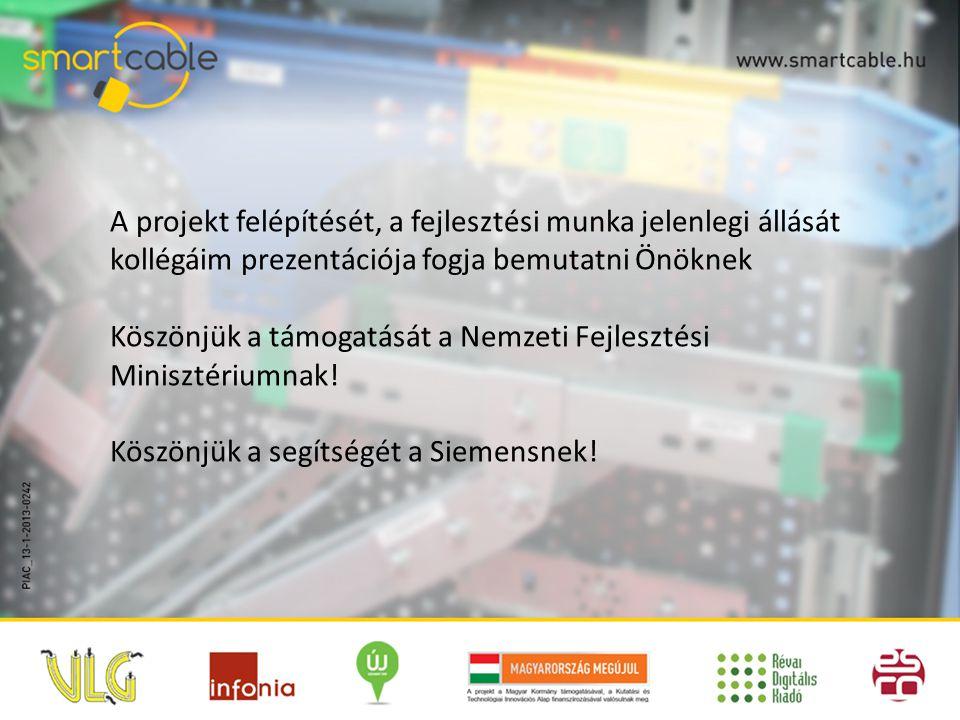 A projekt felépítését, a fejlesztési munka jelenlegi állását kollégáim prezentációja fogja bemutatni Önöknek