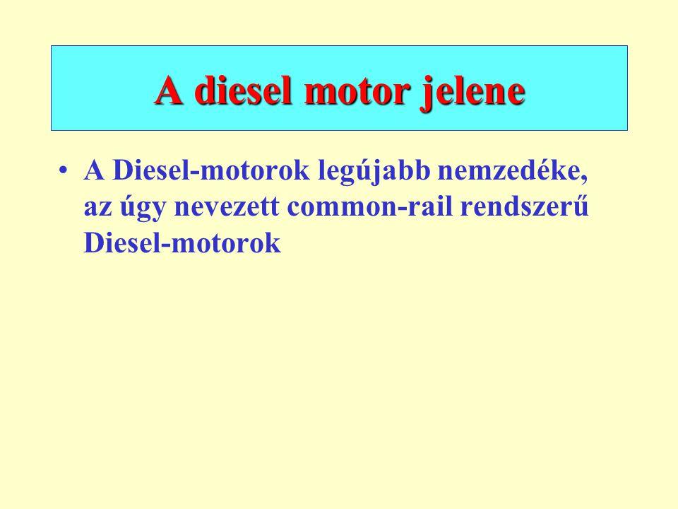 A diesel motor jelene A Diesel-motorok legújabb nemzedéke, az úgy nevezett common-rail rendszerű Diesel-motorok.