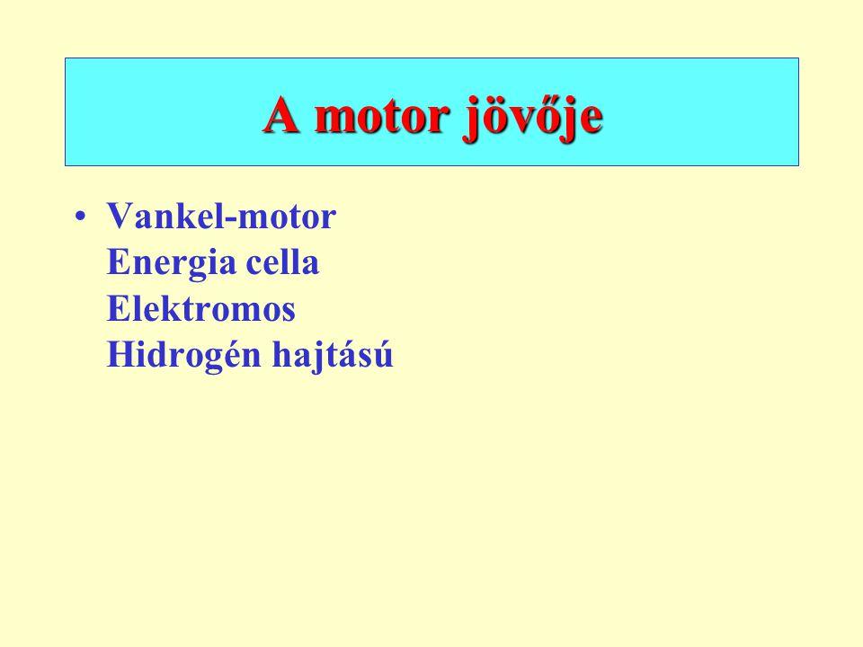 A motor jövője Vankel-motor Energia cella Elektromos Hidrogén hajtású