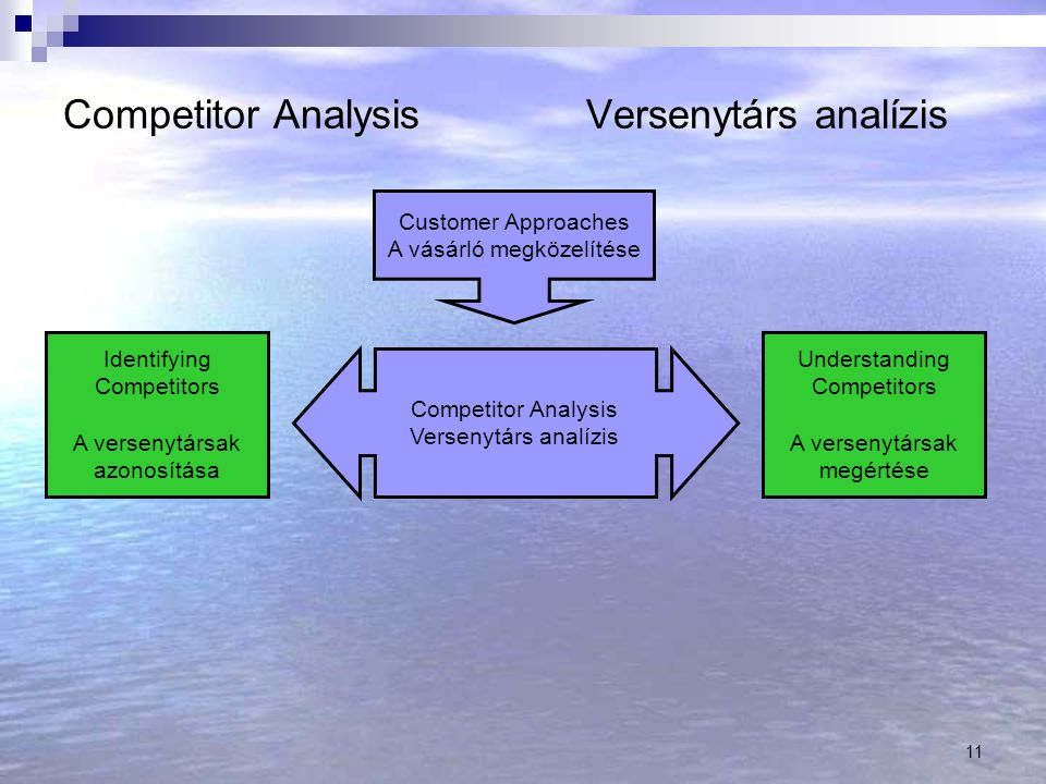 Competitor Analysis Versenytárs analízis