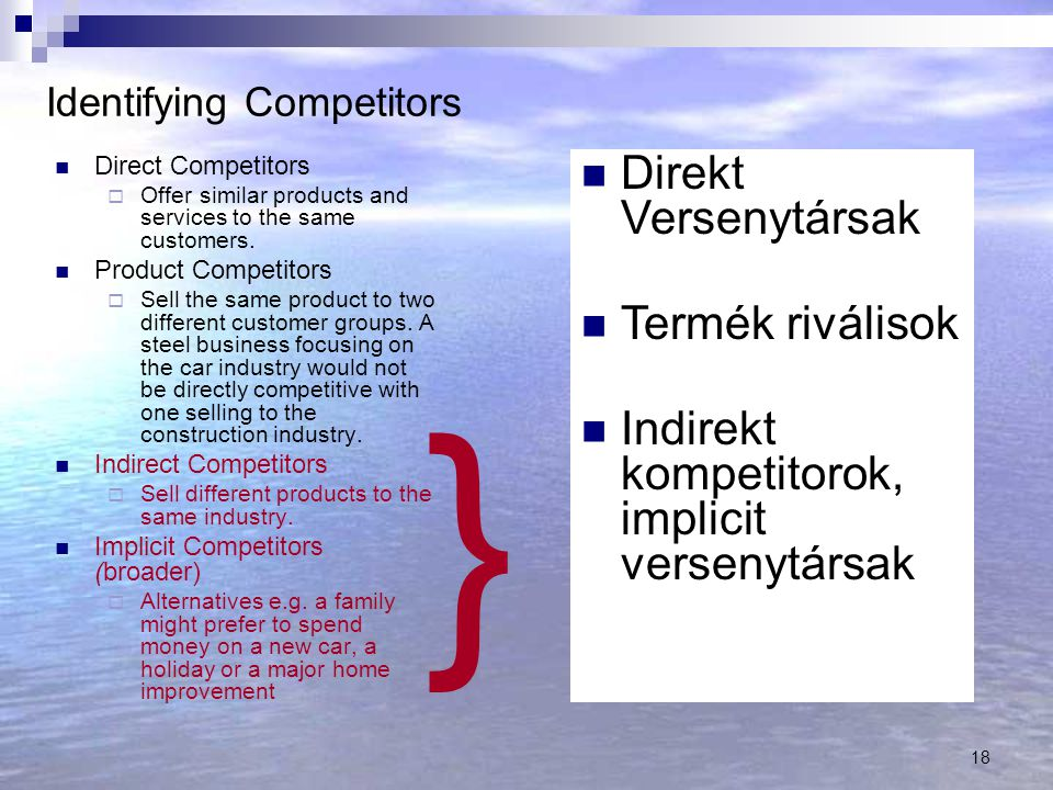 Identifying Competitors