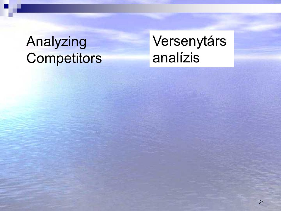 Analyzing Competitors