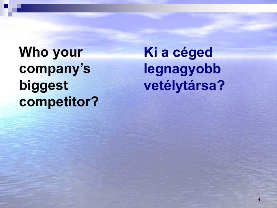 Ki a céged legnagyobb vetélytársa
