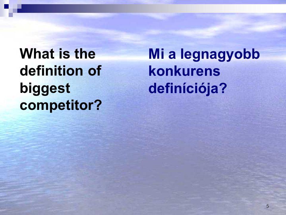 Mi a legnagyobb konkurens definíciója