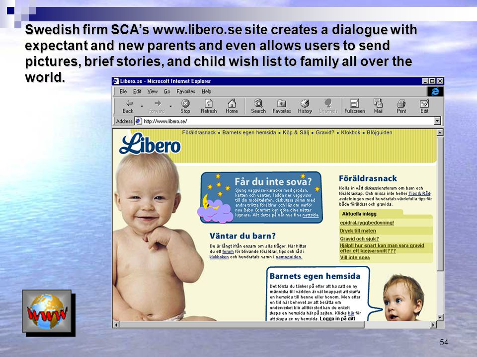 Swedish firm SCA's www. libero