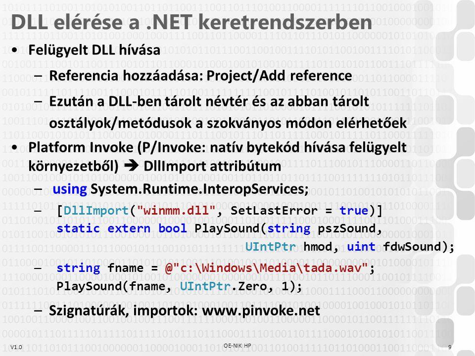 DLL elérése a .NET keretrendszerben
